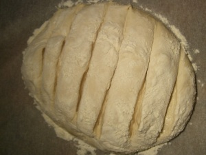 Artisan Dough With Slashed Top