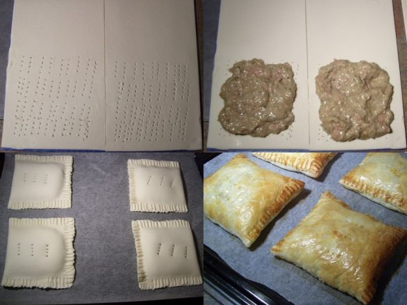 Cooking tuna melt parcels - montage