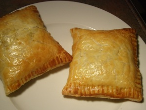 Tuna melt parcels - with egg wash