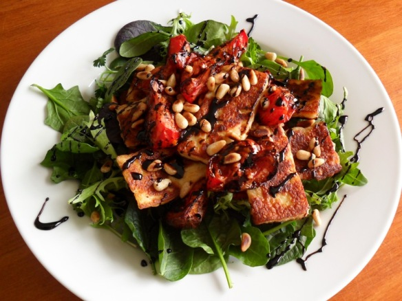 Haloumi Balsamic Salad