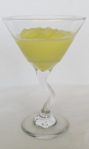 Midori and Lemon Sorbet - in cocktail glass