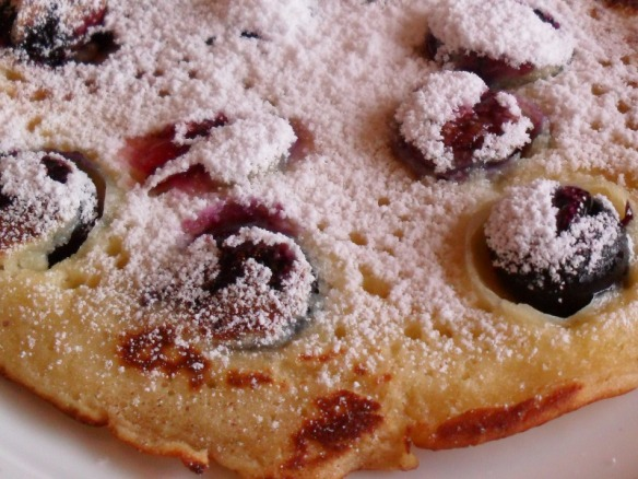 blueberry pancake closeup