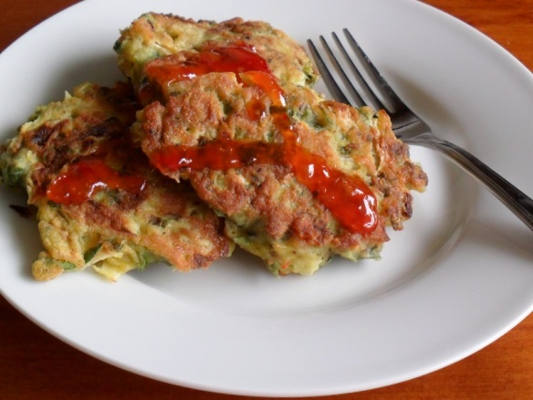 Prawn and vege fritters